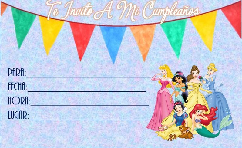 tarjetitas de cumpleaños para imprimir de princesas