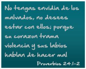 versículos bíblicos de la envidia