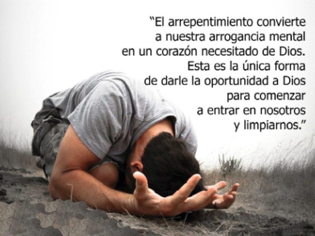 Arrepentimiento no es cuando tú lloras