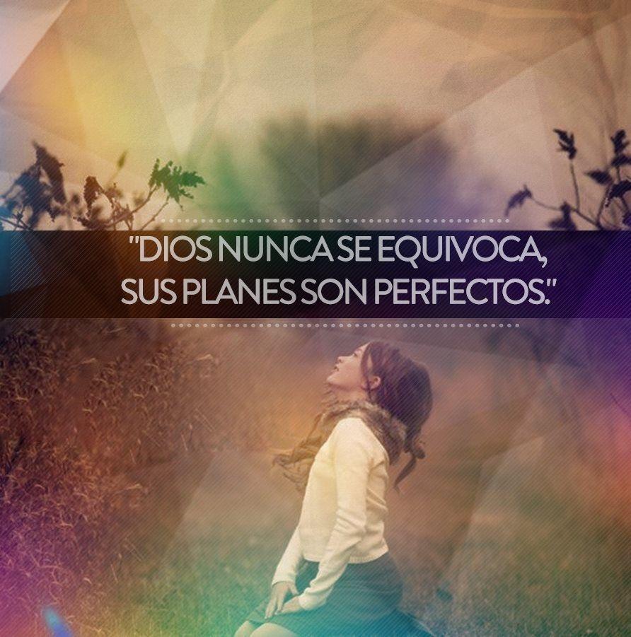 Los planes de Dios son perfectos