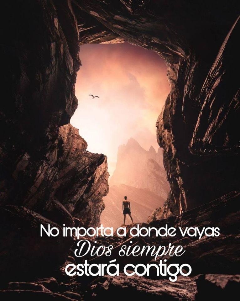 No importa a donde vayas, Dios siempre va contigo