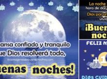 tarjetas con mensajes de buenas noches